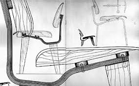 eames furniture design. occurred where the chair seat and back met they abandoned their original singleshell idea in favor of a that had separate moldedplywood panels eames furniture design