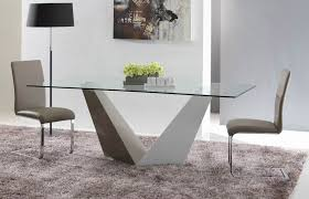 modern glass dining table. Incredible Contemporary Glass Dining Tables And Chairs Room Vertex Table Inside The Modern