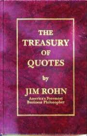 Book Of Quotes Simple The Treasury Of Quotes By Jim Rohn