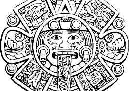 Mayan Calendar Colouring Page Free Coloring Pages Sheets Gods Colo