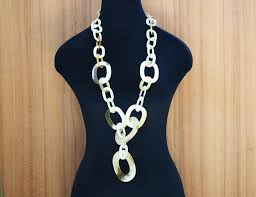 natural buffalo horn jewelry large