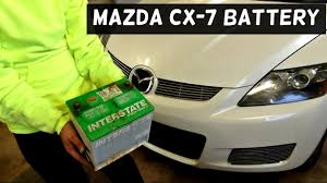 MAZDA CX-7 CX7 BATTERY REPLACEMENT REMOVAL 2007 2008 2009 2010 ...