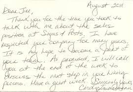 Handwritten Thank You Card After Interview Sample Grassmtnusa Com