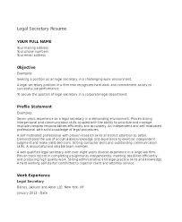 Legal Assistant Sample Resume Secretary Resume Sample Department