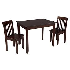 table 2 chairs. amazon.com: kidkraft avalon table ii \u0026 2 chairs set, espresso: toys games