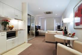 One Bedroom Apartment Decorating Top White Ceramic Flooring Tiled One Bedroom Apartment Decorating