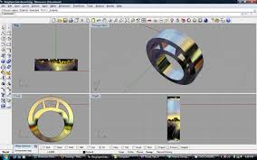 cad puter aided design ring for burnishing with open sides