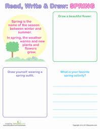 springtime reading com spring writing for kids