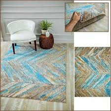 lodge cabin area rug rustic wood look pattern lake house decor brown turquoise