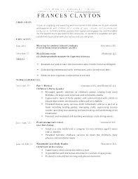 Teachers Resume Objectives Sample Resume For Daycare Teacher Daycare