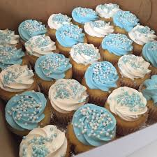 Blue And White Baby Shower Cupcake All Things Cake Baby