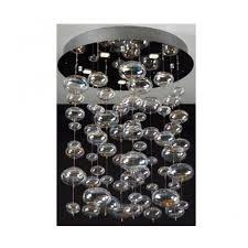 x light chrome crystal ceiling light small round base