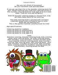 Monster Coloring Book Cute Monster Coloring Pages For Kids Tanya