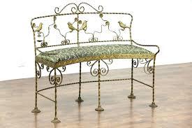 wrought iron patio bench wrought iron glider bench patio ideas cast and wrought iron patio bench