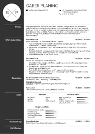 Resume Examples By Real People Cloud Architect Resume Template