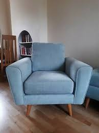 duck egg blue fabric dfs arm chair