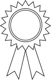 Blue Ribbon Template Free Printable Award Ribbons Award Ribbons Coloring Page