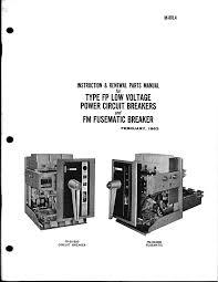 type fp low voltage power circuit breakers Circuit Breaker Parts Diagram Circuit Breaker Operation