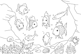 rainbow fish coloring pages preers free printable fish coloring pages for kids
