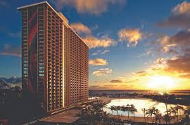 the stunning rainbow tower at sunset image hilton hawaiian village waikiki beach resort
