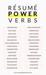 Resume Power Verbs And Resume Tips To Boost Your Resume Work