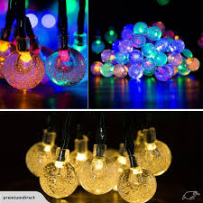 30 led solar outdoor fairy lights bubble beads xmas lighting mixed color trade me