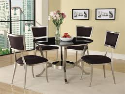 kitchen amazing round glass dining table and chair set hideaway of round glass kitchen table