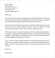 Letter Template For Word Teacher Retirement Letter Template Word Format Download