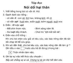 Giải vở bài tập Tiếng Việt lớp 1 tập 2 Tập đọc: Nói dối hại thân
