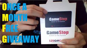 giveaway 25 gamestop gift card