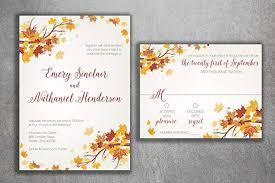 Wedding Invitatiins Amazon Com Autumn Wedding Invitation Set Fall Wedding Invitation