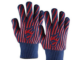 Kevlar Silicone BBQ Gloves Cooking <b>Oven</b> Pot <b>Heat Proof Resistant</b> ...