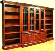 bookshelf with glass doors cherry wood bookcase dark book bookcases door india