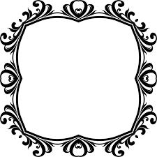 black and white decorative borders picture frames ornament