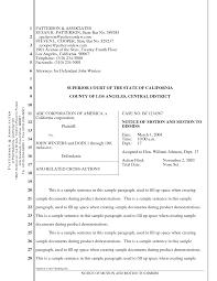 California Pleading Template Under Fontanacountryinn Com