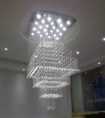 contemporary crystal chandelier modern luxury square rain drop