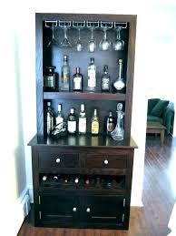 floating shelves with wine glass holders racks shelf rack modern wall black