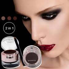 hot 2 in 1 brown black gel eyeliner eyebrow powder makeup set kit waterproof long lasting eye liner eye brow make up cosmetics in makeup sets from beauty