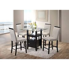 round glass bistro table set k and b furniture co inc cappuccino wood pub a wade logan square glass pub table top sets