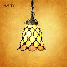 tiffany style hanging lamp retro pendant lights for bars indoor lighting fixture vintage small size lampshade