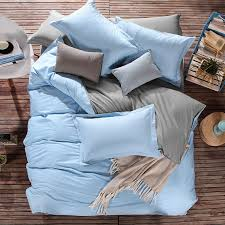 pure cotton duvet covers uk in solid light blue color best ing design