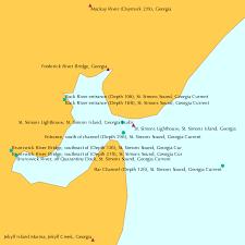 St Simons Tide Chart 2017 Entrance North Of Channel Depth 13ft St Simons Sound