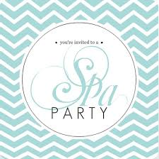 Spa Party Invites Relax Breathe Rejuvenate From Purpetrail