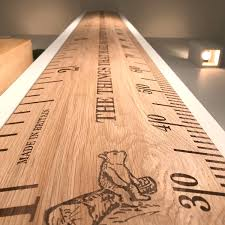 Wooden Height Chart Standard Deluxe Oak Personalised Ruler Height Chart