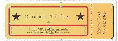 Free Templates For Tickets 40 Free Editable Raffle Movie Ticket Templates