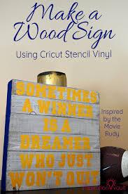 make a wood sign using cricut stencil vinyl diy craft tutorial