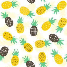 cute pineapple wallpaper. Unique Wallpaper Seamless Pineapple Pattern  Cute Doodle For Textile  Fabric Or Wallpaper Backgrounds Stock Vector And Cute Pineapple Wallpaper R