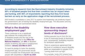 of diity disclosure and consequently facilitating requests for workplace adjustments that was the conclusion of a recent round table hosted by