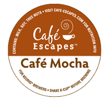 love cafe escapes cafe mocha hot chocolate in my keurig with mini marshmallows on top of course
