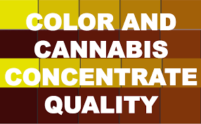 Color And Cannabis Concentrate Quality Extraction By